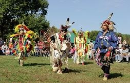 Four Traditional American Indian dancers at the 2010 American Indian Festival