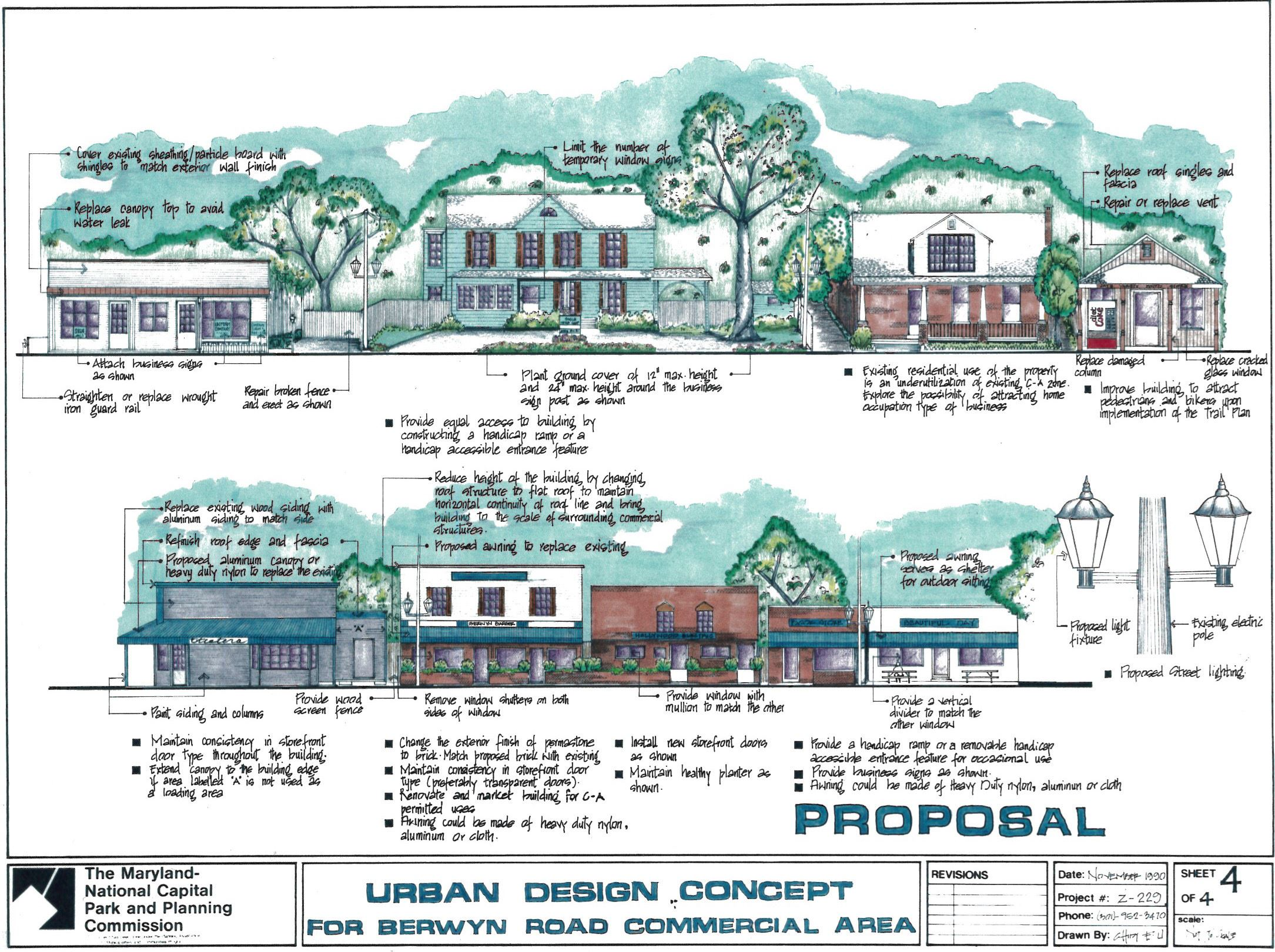 Urban Design Concept for Berwyn Road Commercial Area Page