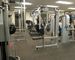 interior view of the marlow heights fitness room