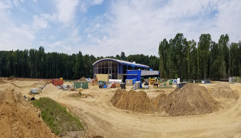 Panoramic view of the building and site