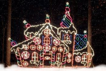Lights in Shape of House